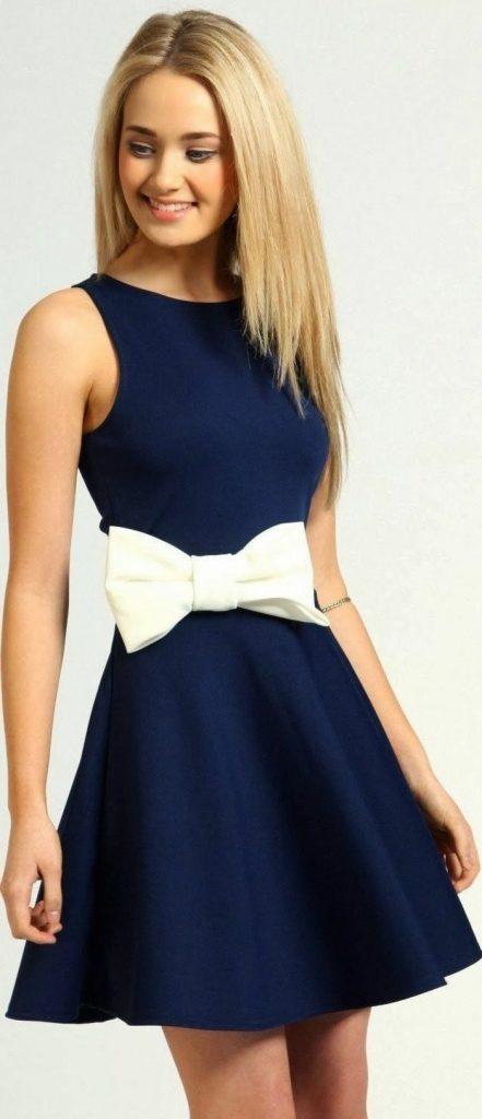 cheap for discount e29c1 af368 10 Cool Blaues Kleid Kurz Galerie - Abendkleid