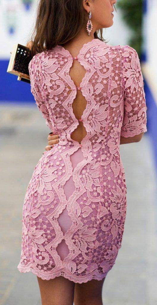 10 Cool Rosa Kleid Mit Spitze Ärmel - Abendkleid