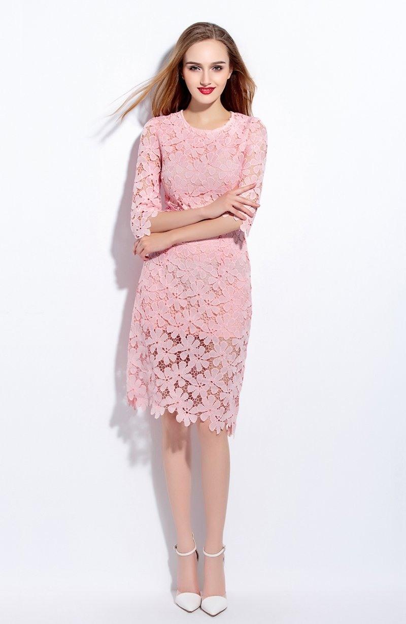 20 Leicht Rosa Kleid Spitze Stylish13 Spektakulär Rosa Kleid Spitze Galerie