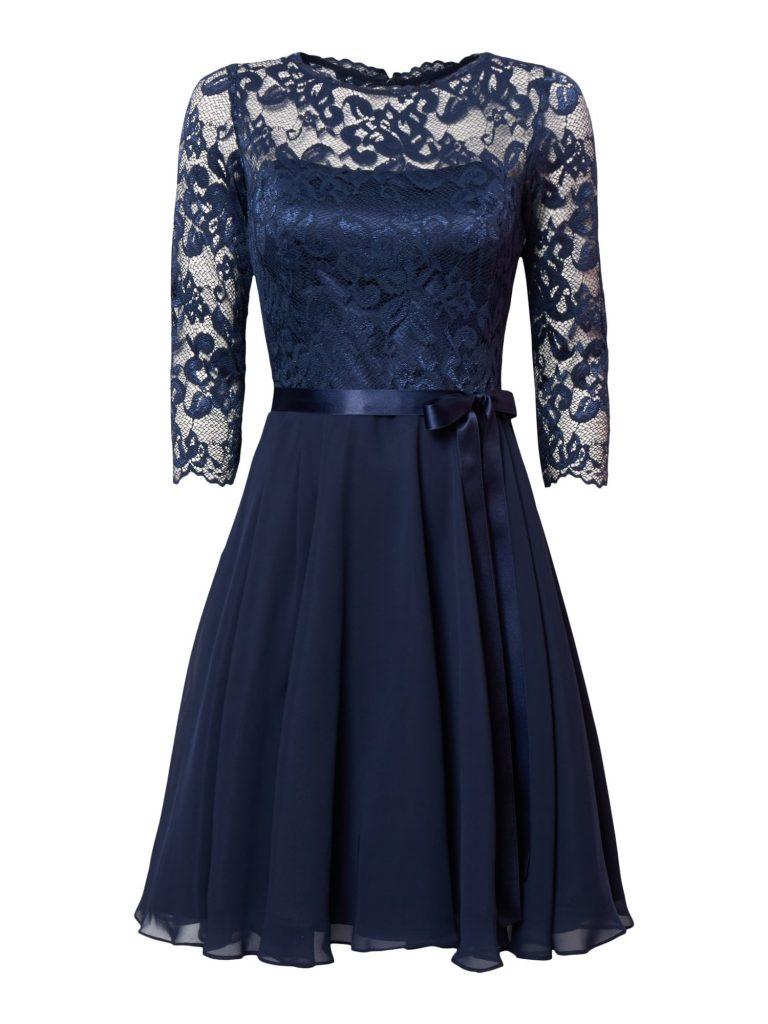 10 leicht kleid spitze blau design - abendkleid