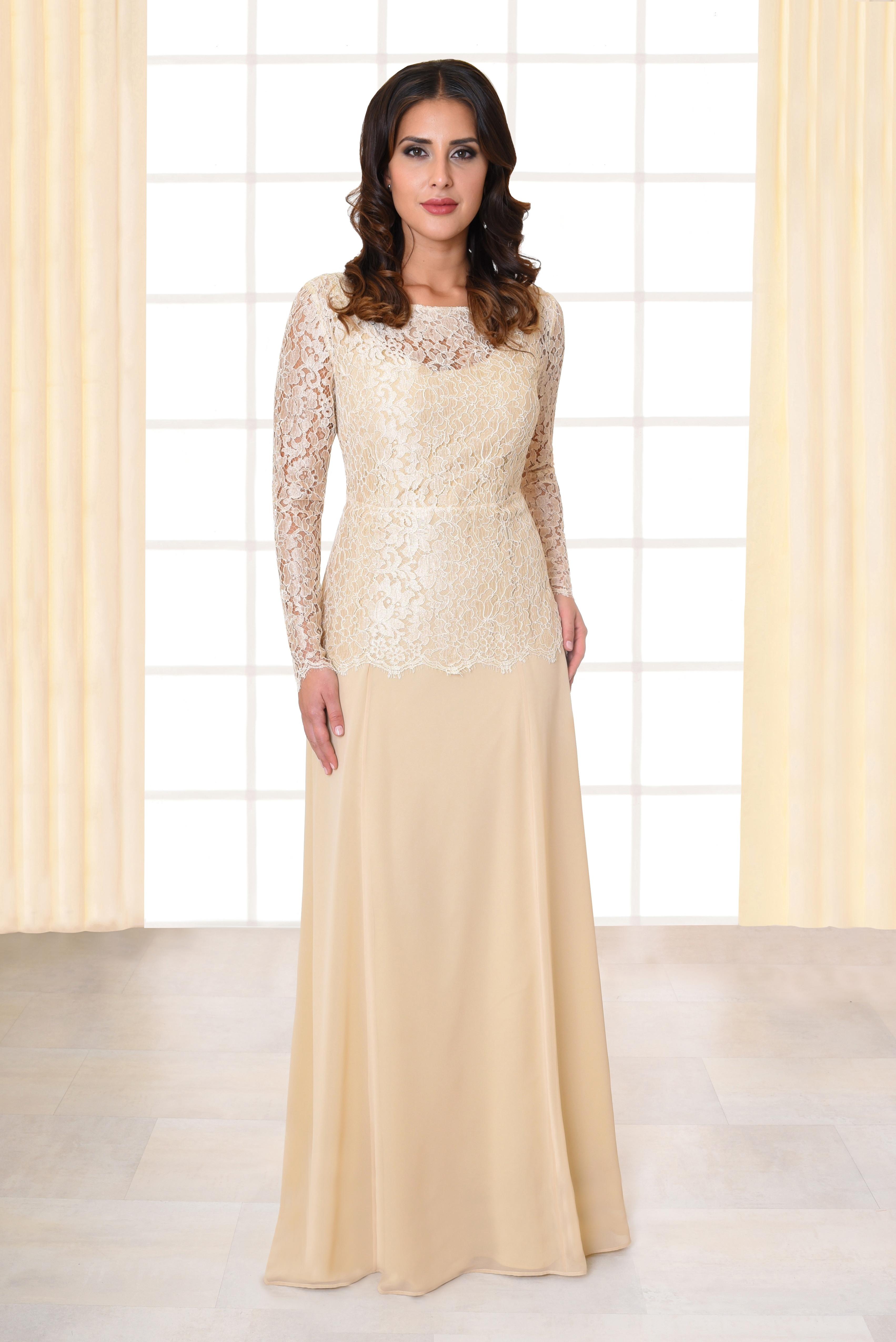 11 Luxus Abendkleid Creme Lang Stylish - Abendkleid