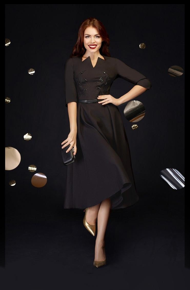 20 Luxus Kleid Midi Schwarz Boutique20 Einzigartig Kleid Midi Schwarz Galerie