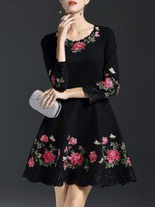 Abend Perfekt Kleid Schwarz Mit Blumen für 2019Designer Fantastisch Kleid Schwarz Mit Blumen Vertrieb