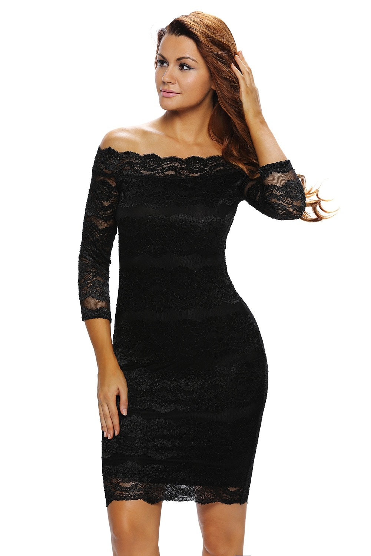 20 Wunderbar Schwarzes Kurzes Kleid Mit Spitze Ärmel Luxurius Schwarzes Kurzes Kleid Mit Spitze Spezialgebiet