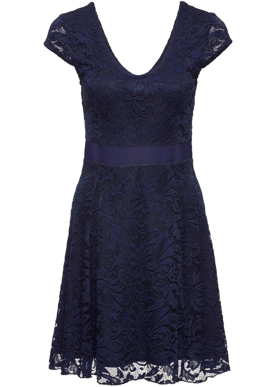 Spektakulär Kleid Dunkelblau Spitze DesignAbend Luxus Kleid Dunkelblau Spitze Design