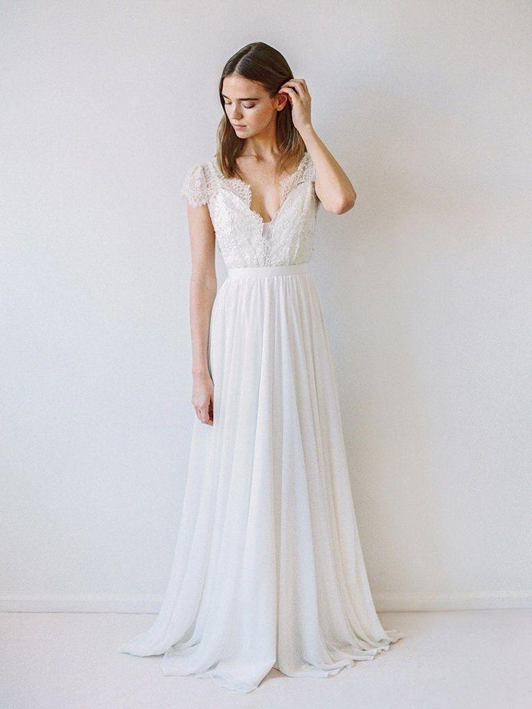 Abend Großartig Schlichte Hochzeitskleider GalerieDesigner Großartig Schlichte Hochzeitskleider Stylish
