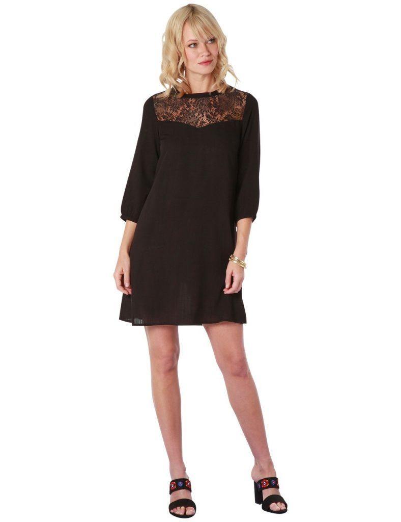 13 einfach schwarzes spitzenkleid stylish abendkleid