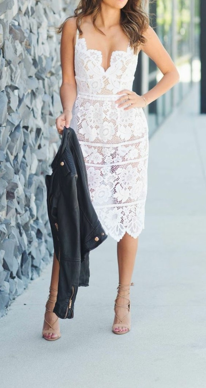 Abend Fantastisch Weißes Kleid Elegant Ärmel17 Wunderbar Weißes Kleid Elegant Design