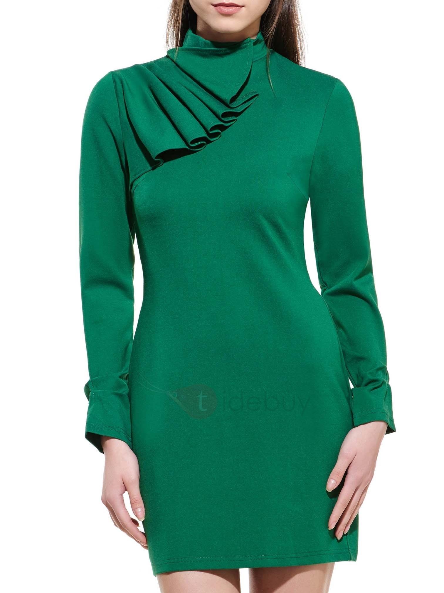 15 Genial Kleid Dunkelgrün Langarm für 2019Designer Wunderbar Kleid Dunkelgrün Langarm für 2019
