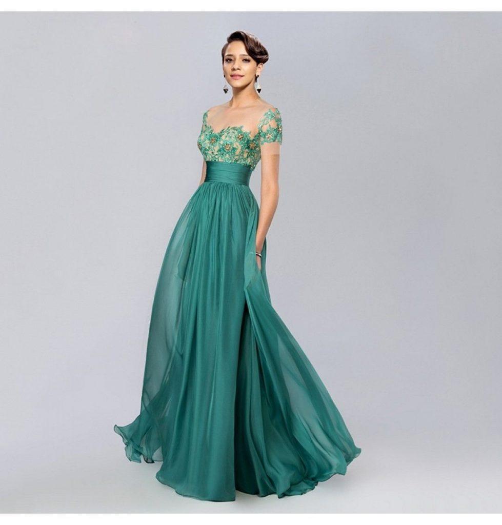 12 Großartig Abendkleid Lang Grün Design - Abendkleid