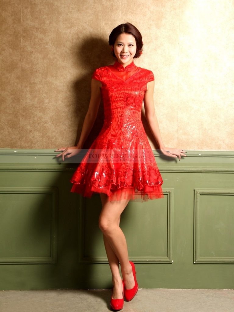 13 Großartig Kleid Rot Spitze Ärmel - Abendkleid