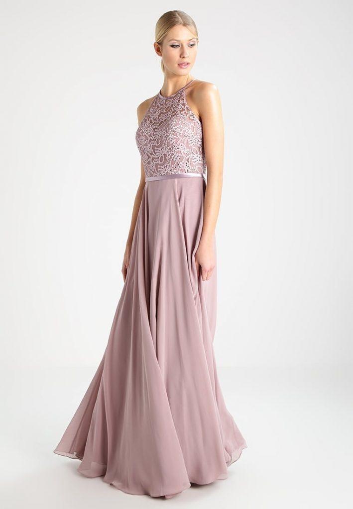 13 Leicht Abendkleid Lang Taupe Design - Abendkleid