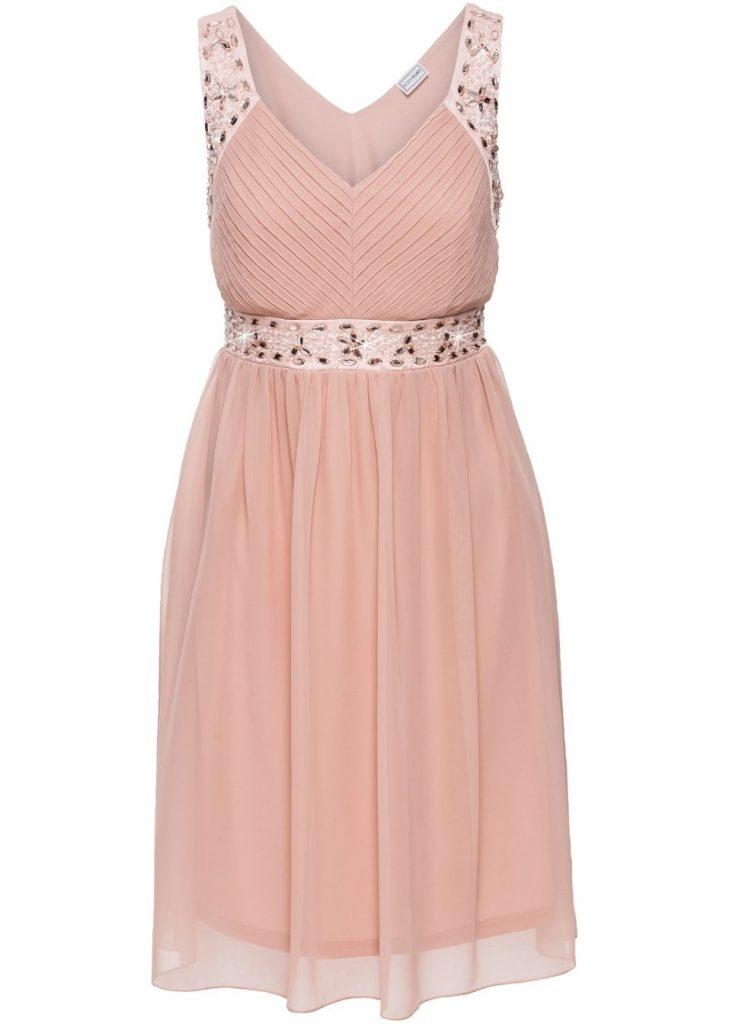 13 Leicht Kleid Spitze Altrosa Design - Abendkleid
