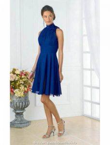Cool Blaues Kleid A Linie VertriebDesigner Luxus Blaues Kleid A Linie Bester Preis