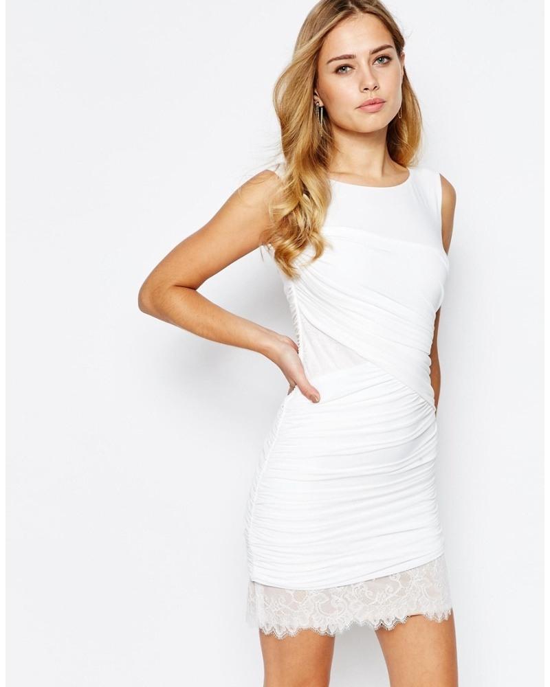 17 Schön Kleid Weiß für 201920 Spektakulär Kleid Weiß Ärmel