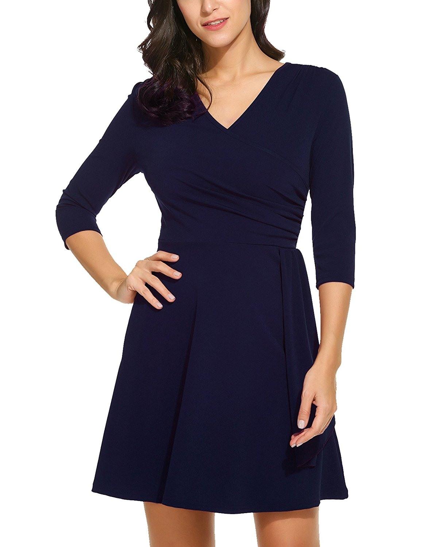 Formal Wunderbar Abendkleid Wickelkleid Ärmel Luxus Abendkleid Wickelkleid für 2019