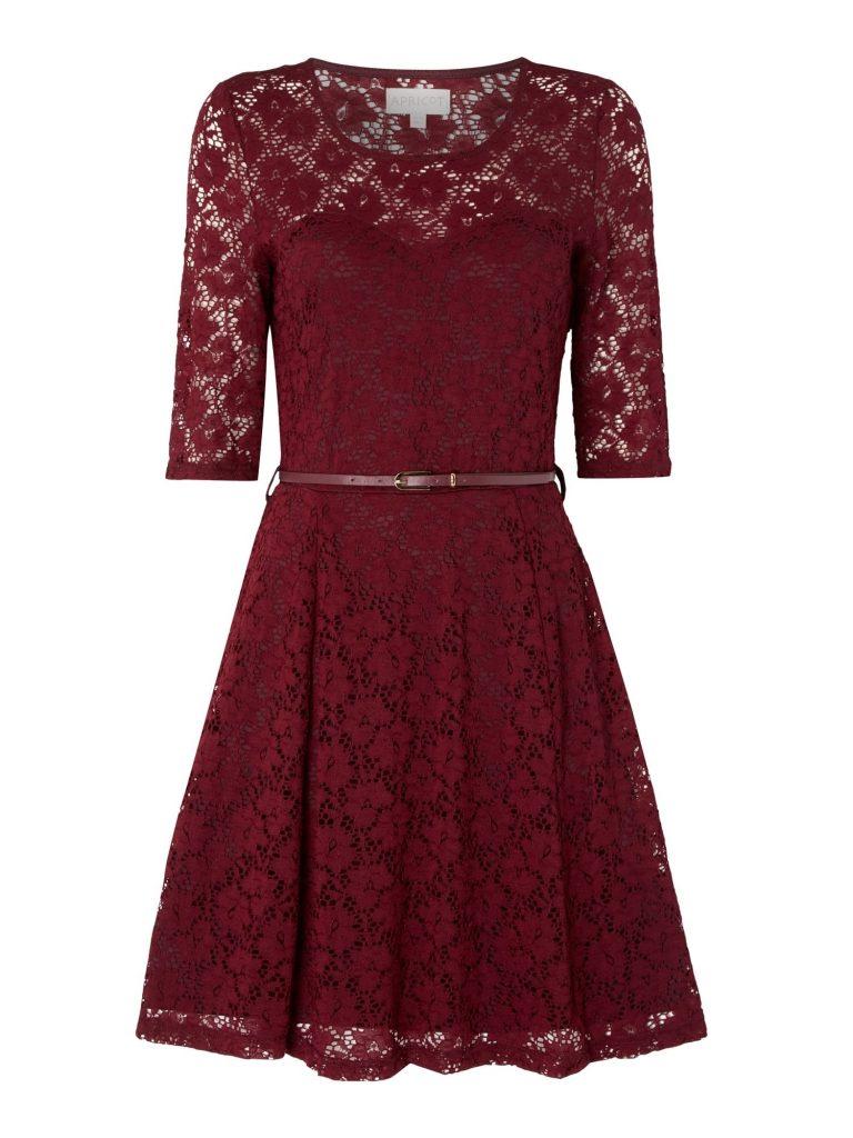 14 Schön Bordeaux Kleid Spitze Galerie - Abendkleid