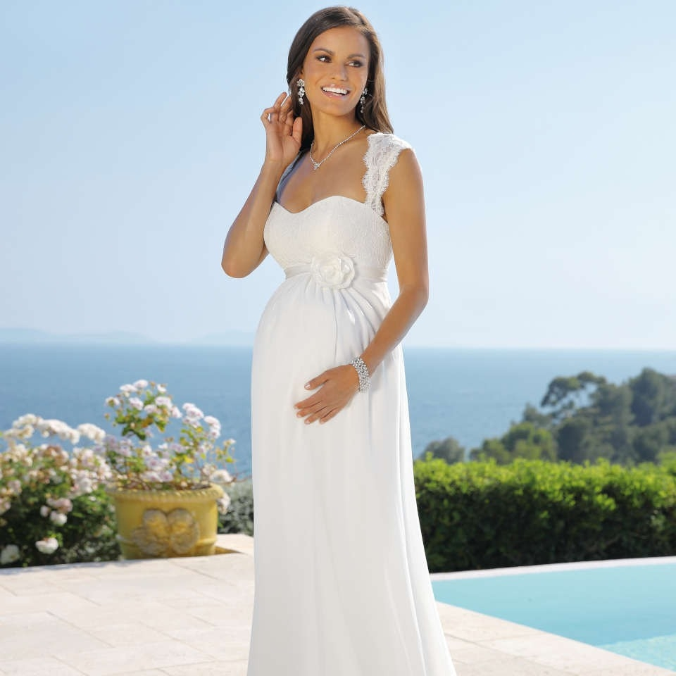 13 Schön Brautkleider Für Schwangere Spezialgebiet15 Spektakulär Brautkleider Für Schwangere Ärmel