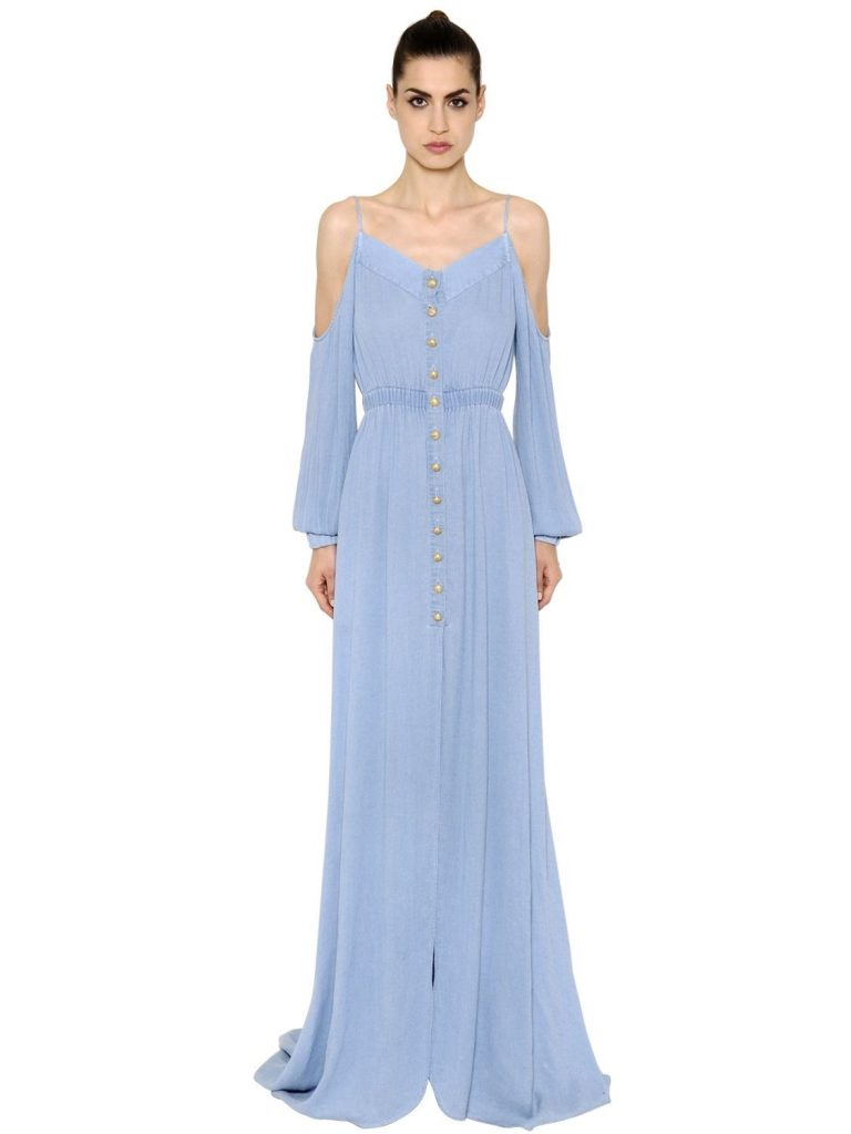 langes kleid hellblau