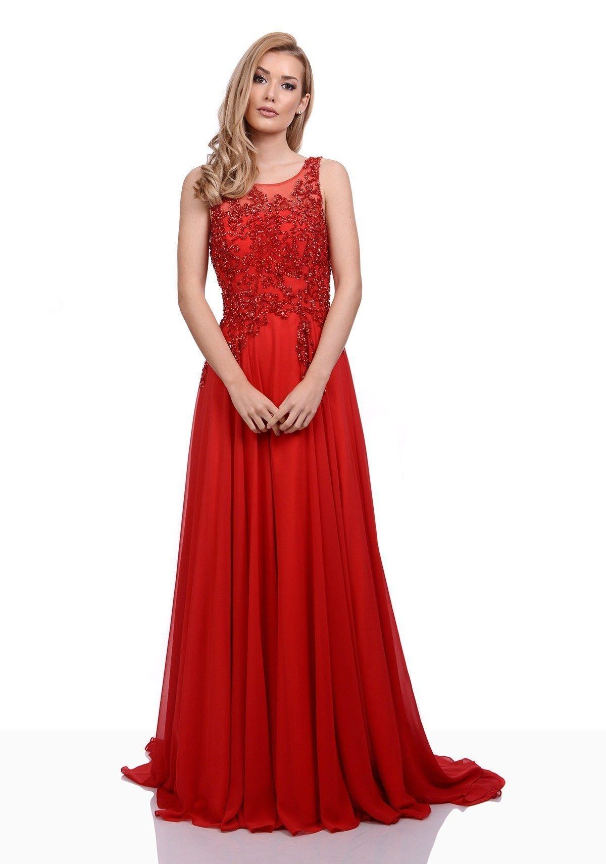 17 Perfekt Abiballkleider Lang Rot ÄrmelAbend Einfach Abiballkleider Lang Rot für 2019