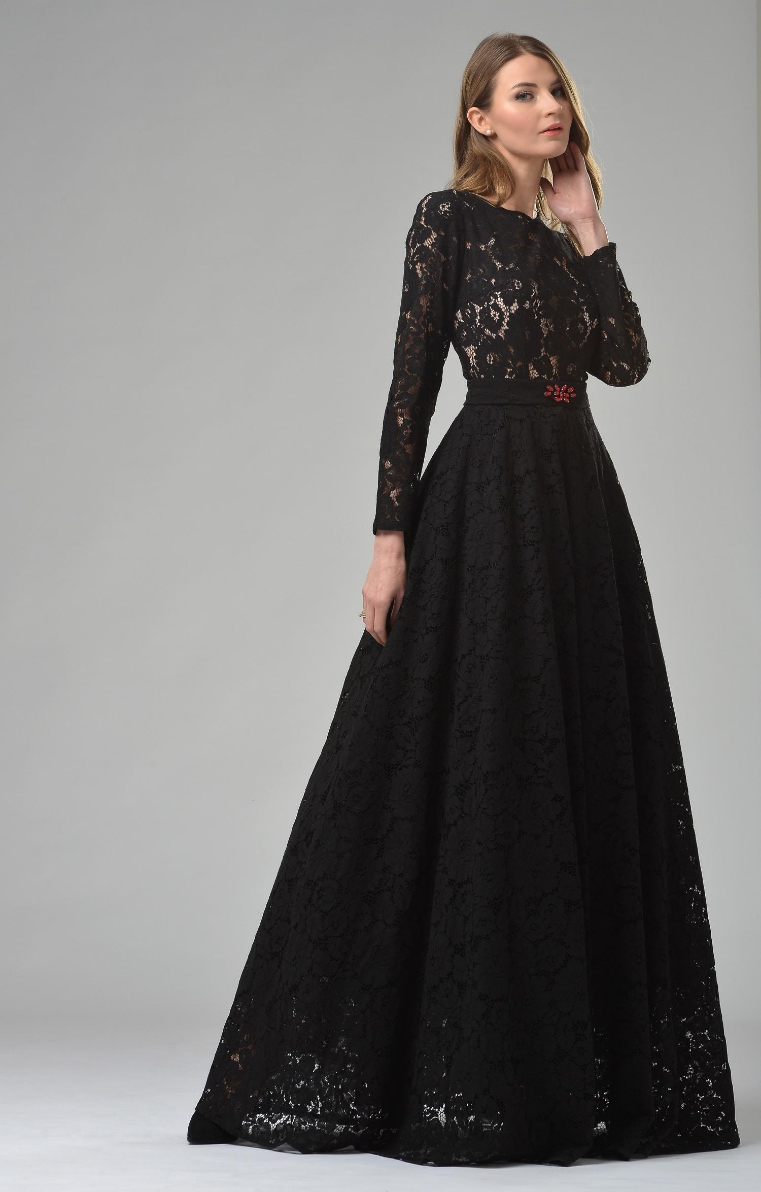 13 Wunderbar Schwarzes Kleid Lang Vertrieb - Abendkleid