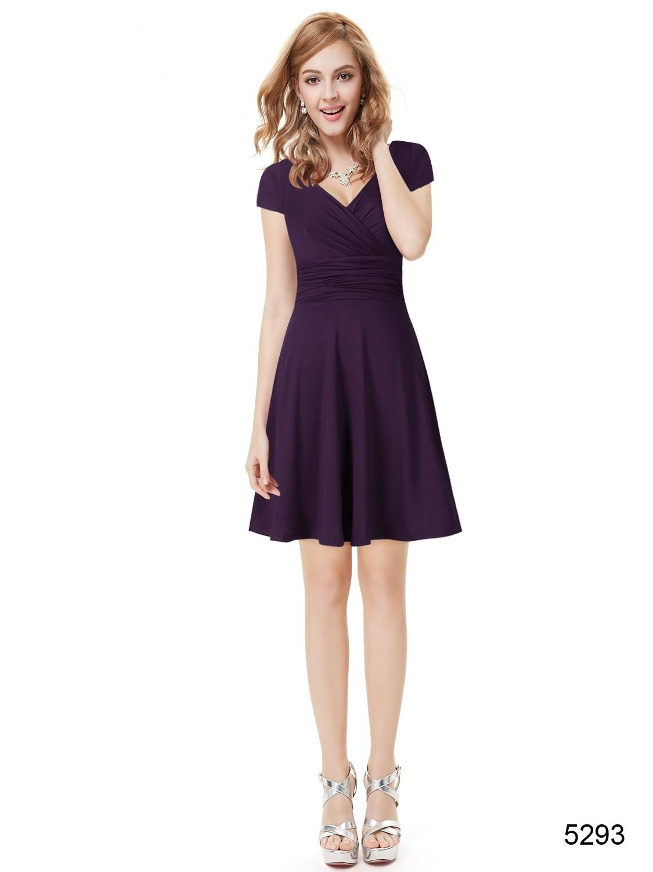 Abend Schön Kleid Lila Kurz StylishDesigner Einzigartig Kleid Lila Kurz für 2019