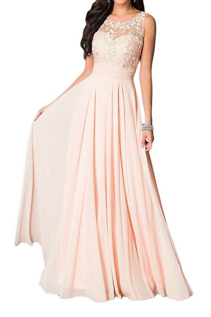 Damen Kleider Lang Elegant 927481