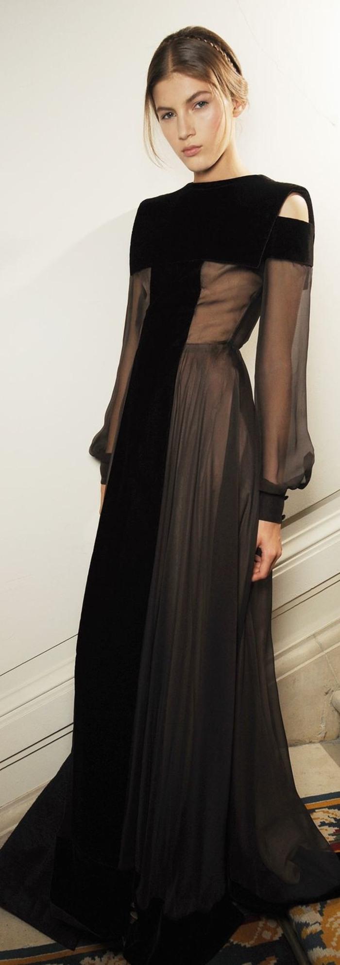 Abend Cool Schwarzes Kleid Lang GalerieDesigner Spektakulär Schwarzes Kleid Lang für 2019