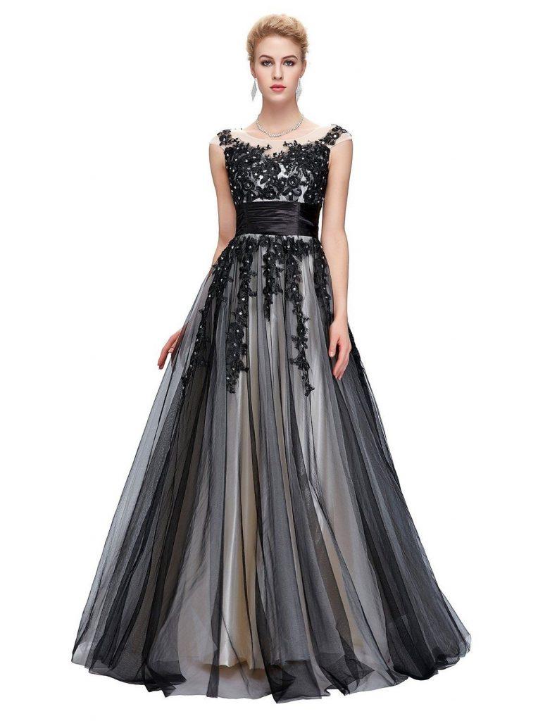 11 Genial Abendkleider Lang Schwarz Elegant Design - Abendkleid