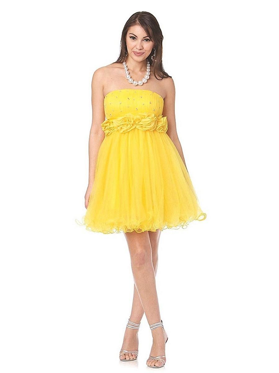 Großartig Kleid Gelb Kurz Spezialgebiet15 Elegant Kleid Gelb Kurz Galerie