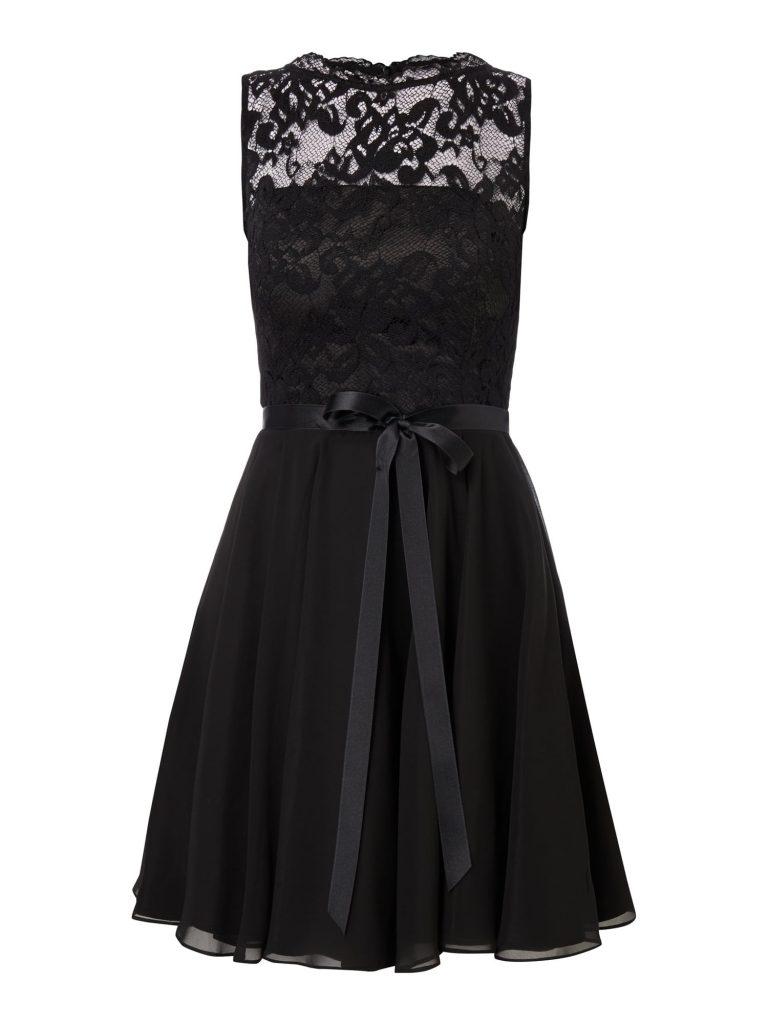 16 Leicht Schwarzes Kurzes Kleid Mit Spitze Spezialgebiet - Abendkleid