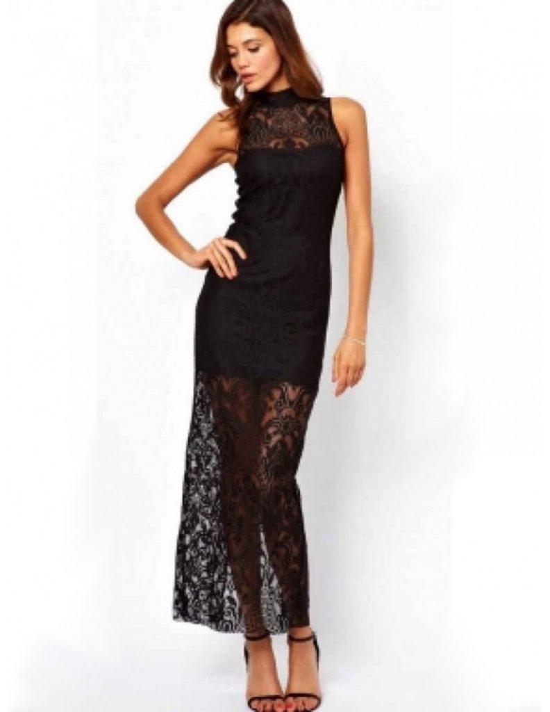 15 Luxus Schwarzes Kleid Mit Spitze Design - Abendkleid