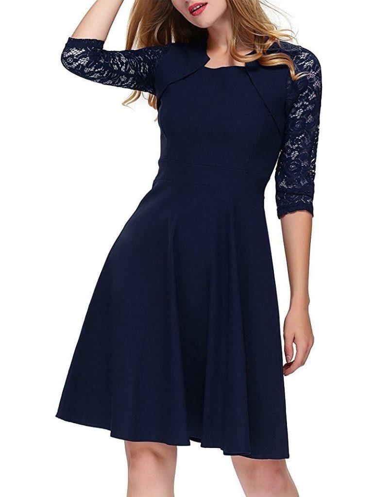15 schön elegante abendkleider knielang galerie - abendkleid