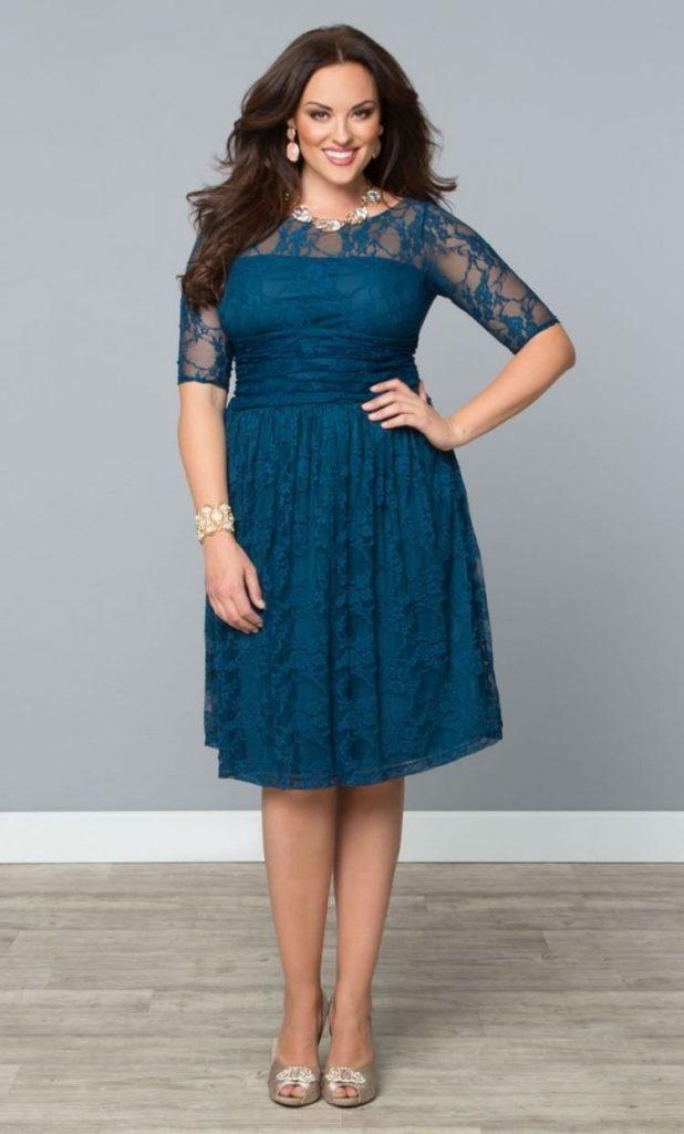 Kleid hochzeitsgast sommer blau