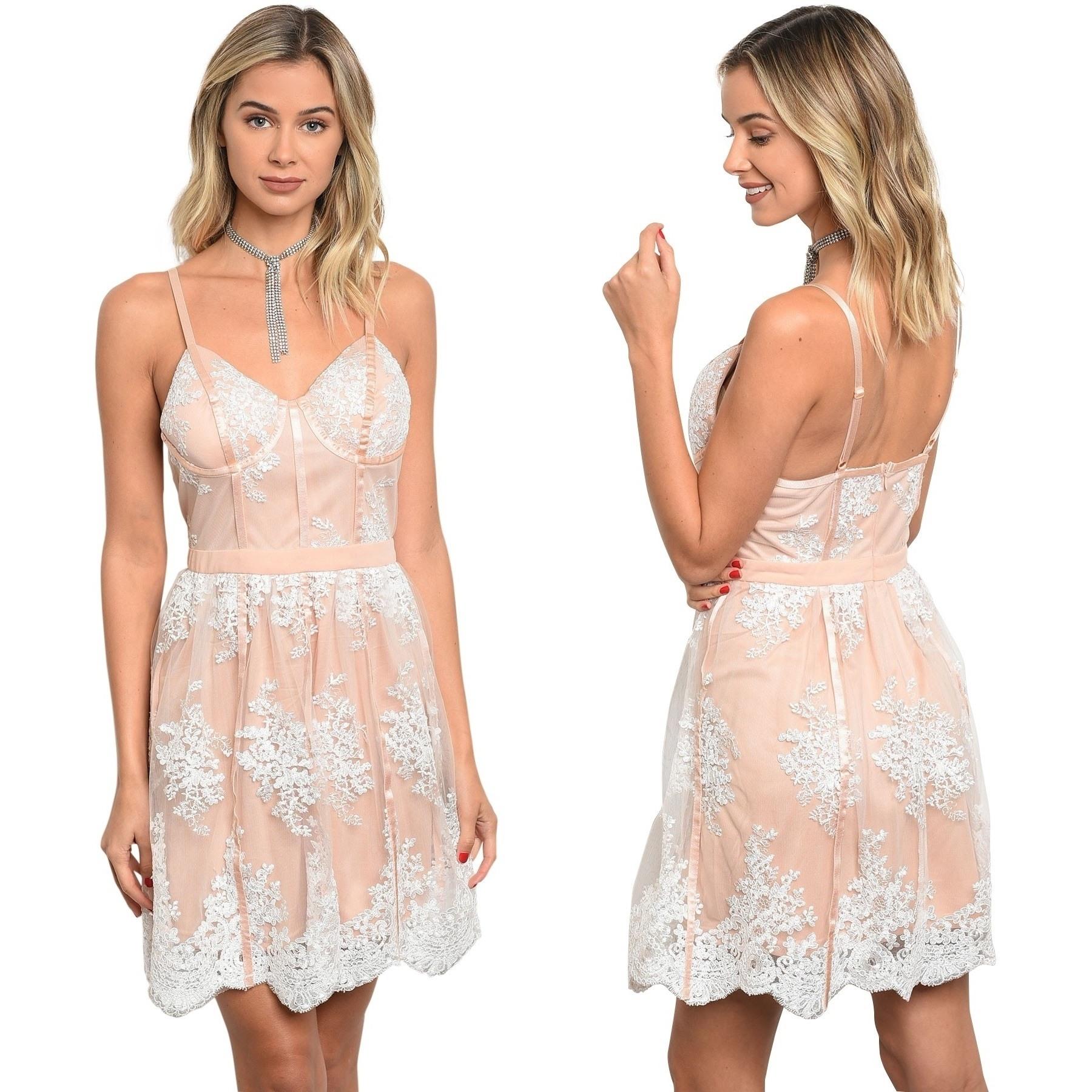 10 Kreativ Kleid Kurz Weiß Spitze ÄrmelDesigner Top Kleid Kurz Weiß Spitze Boutique