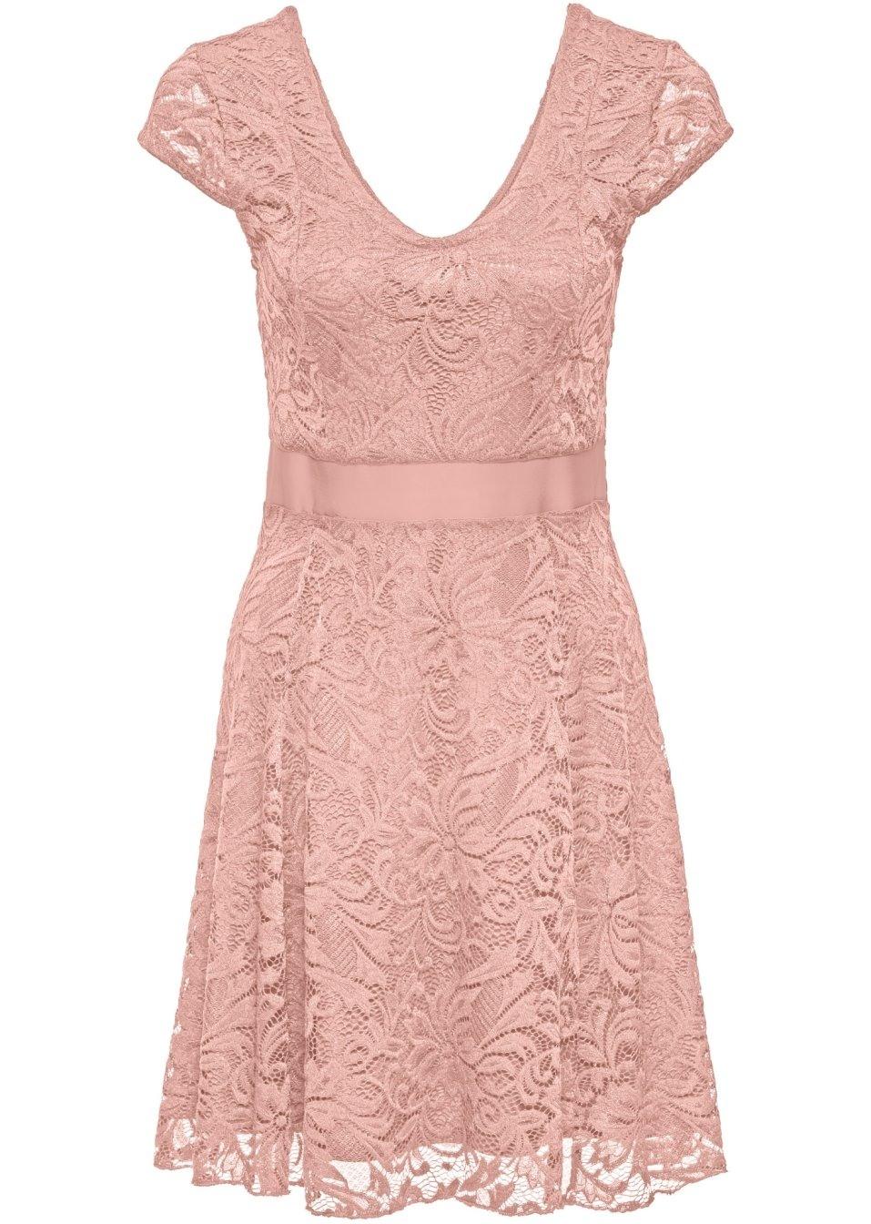 Abend Erstaunlich Rosa Kleid Spitze Ärmel10 Einfach Rosa Kleid Spitze für 2019