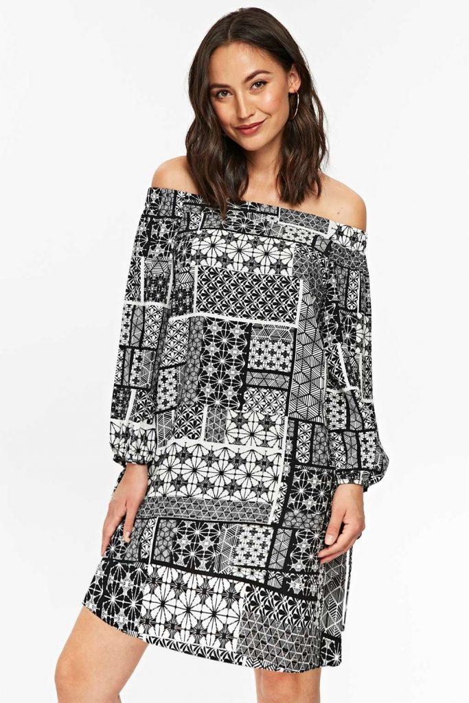 15 Schön Schwarz Weißes Kleid für 2019 - Abendkleid