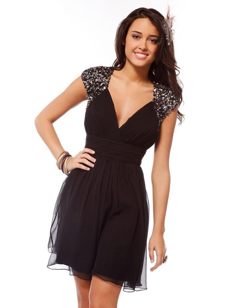 12 Wunderbar Schwarze Kurze Kleider Ärmel - Abendkleid