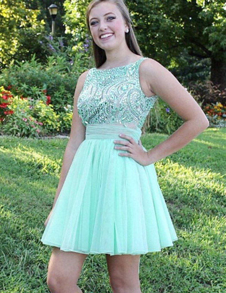17 Ausgezeichnet Kleid Mintgrün Kurz Bester Preis - Abendkleid