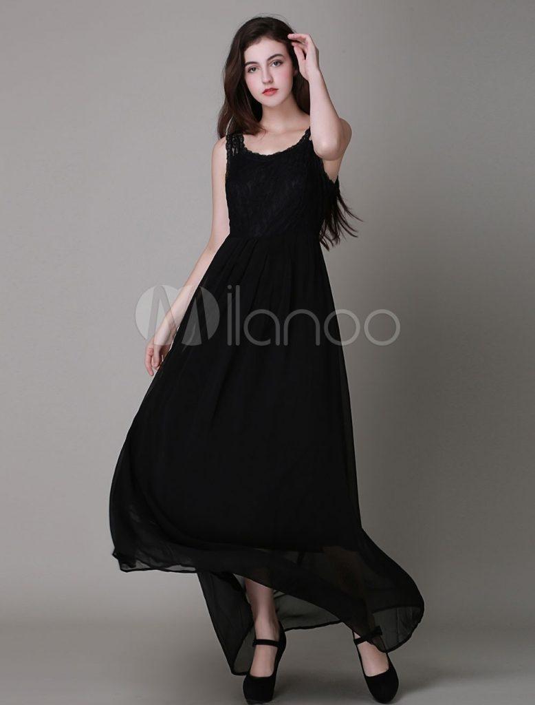 big sale 31956 c897e 17 Einzigartig Schwarzes Langes Kleid Stylish - Abendkleid
