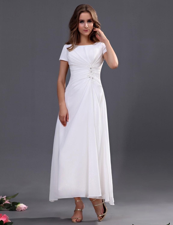 Schön Weißes Kleid Mit Ärmeln Spezialgebiet13 Einfach Weißes Kleid Mit Ärmeln Boutique
