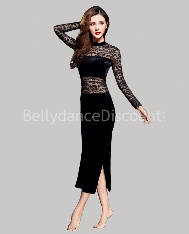 Formal Luxurius Schwarzes Kleid Spitze ÄrmelAbend Genial Schwarzes Kleid Spitze Ärmel
