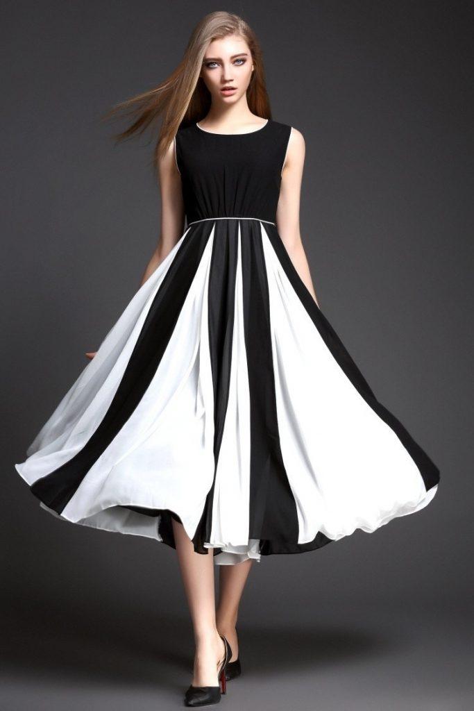 17 Luxus Kleider Schwarz Weiß Kurz für 2019 - Abendkleid
