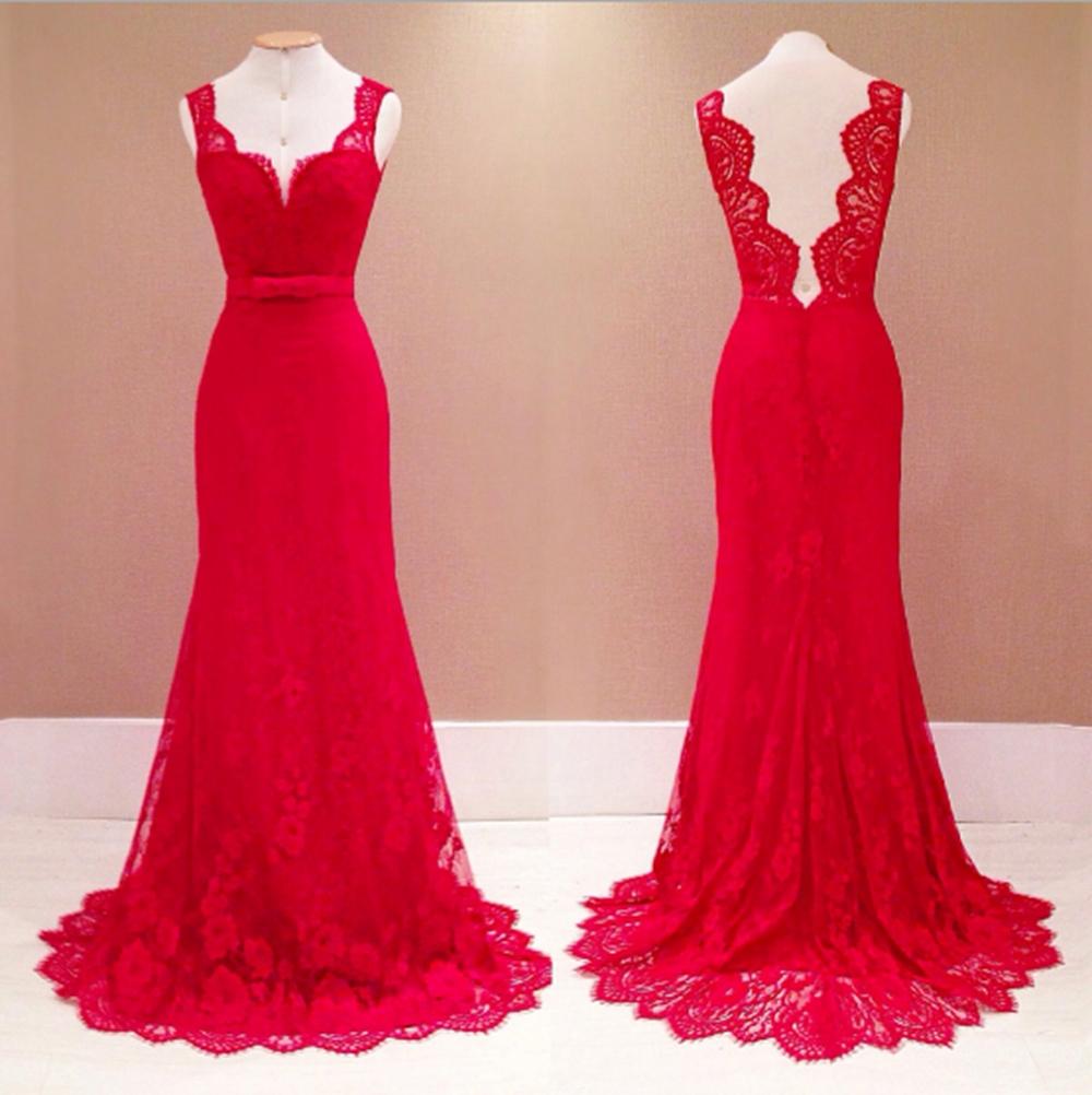 11 Perfekt Abendkleid Rot Spitze Lang für 11 - Abendkleid