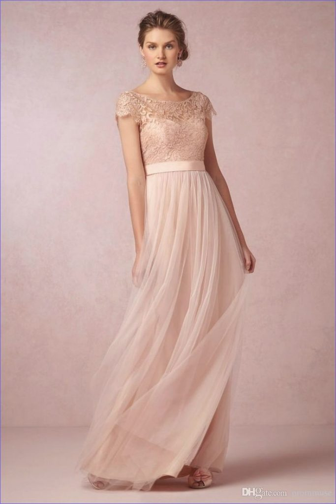 17 Perfekt Kleid Altrosa Lang Design - Abendkleid