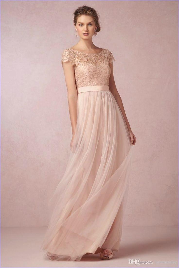Spektakulär Kleid Altrosa Lang Galerie10 Schön Kleid Altrosa Lang Design
