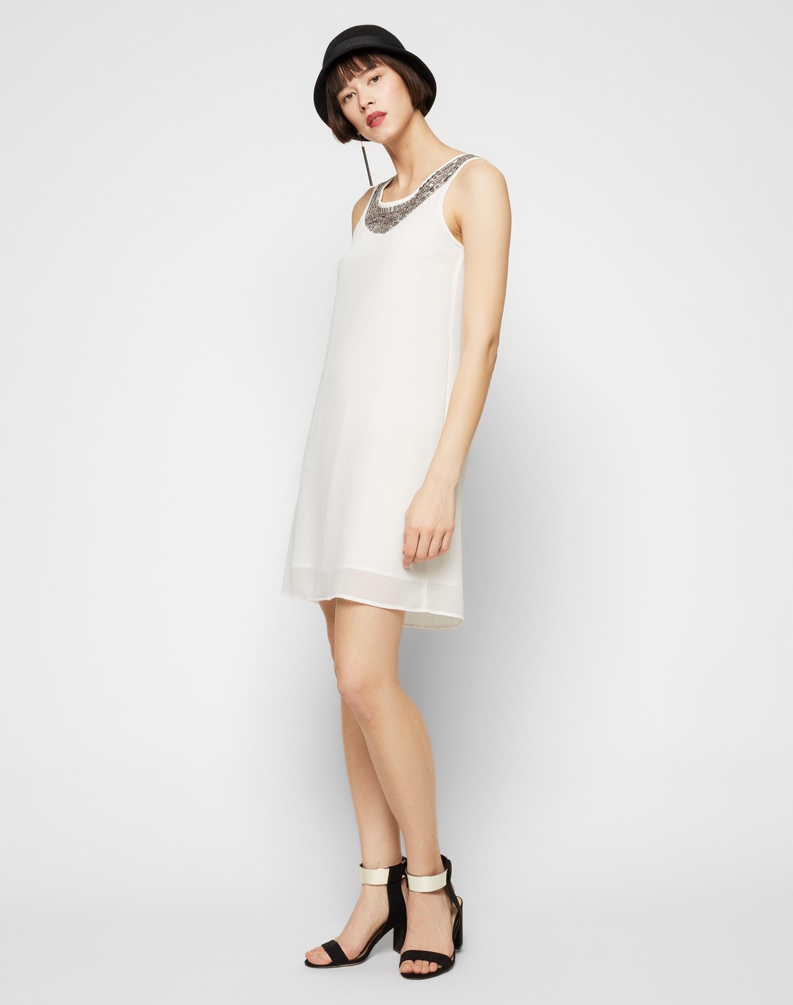 Abend Schön Kleid Weiß Glitzer Boutique10 Top Kleid Weiß Glitzer Stylish
