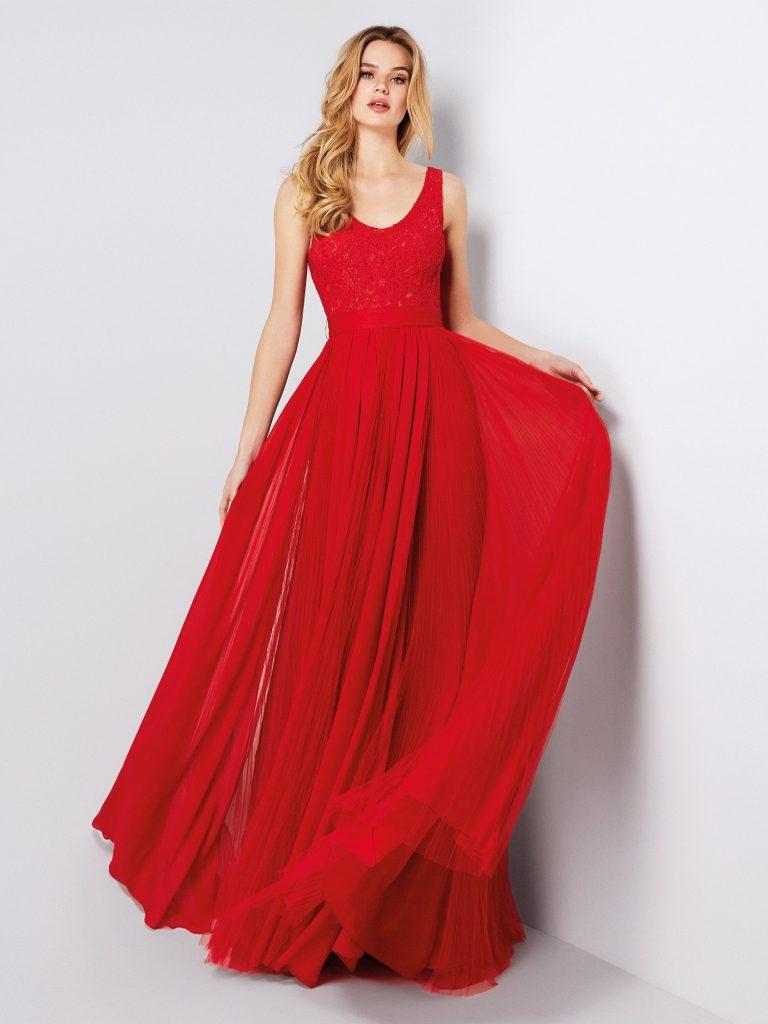 10 Schön Abendkleid Rot Lang Spitze Ärmel - Abendkleid