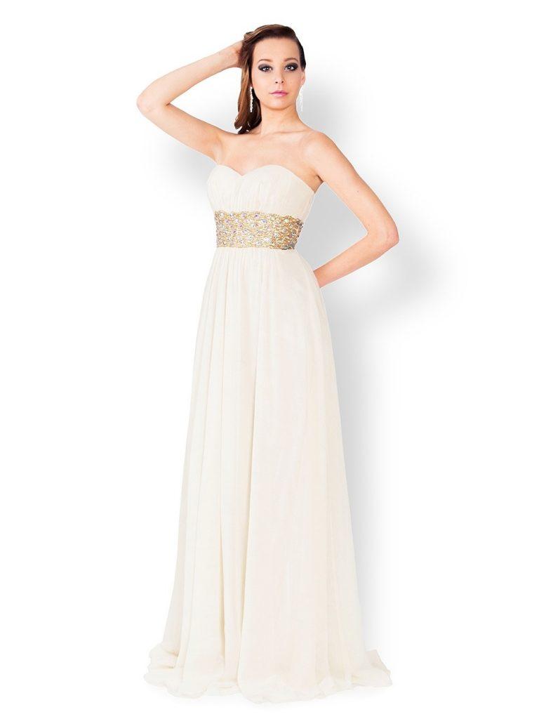 8 Schön Abendkleider Lang Cremefarben für 8 - Abendkleid