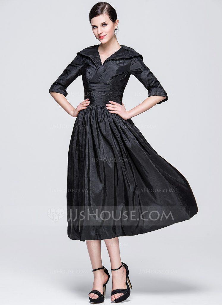 Kleider wadenlang schwarz